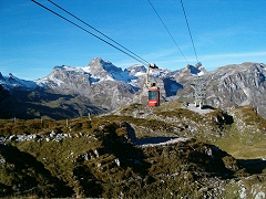 Glattalp Cableway and mountains