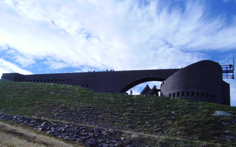 Alpe Foppa / Monte Tamaro, Switzerland: famous chapel by architect Mario Botta