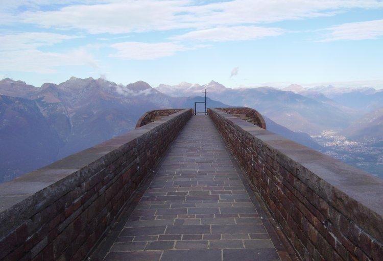 Alpe Foppa / Monte Tamaro, Switzerland: famous chapel by architect Mario Botta